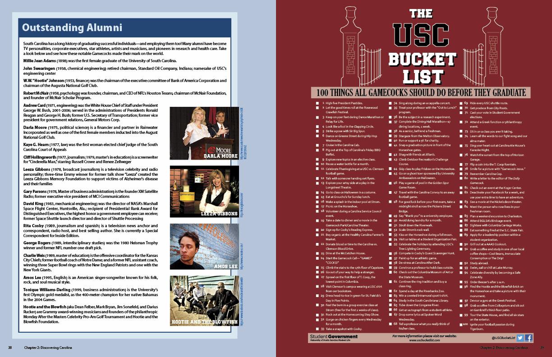 Inside page spread