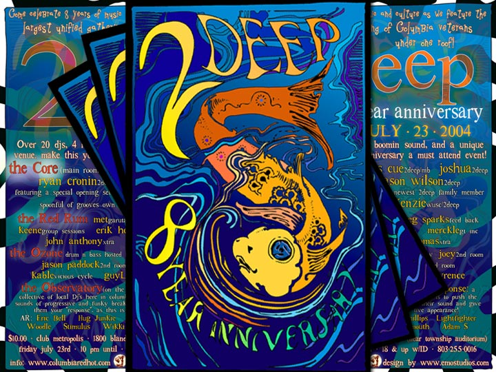 Event Design: 2 Deep Anniversary Deep House Party