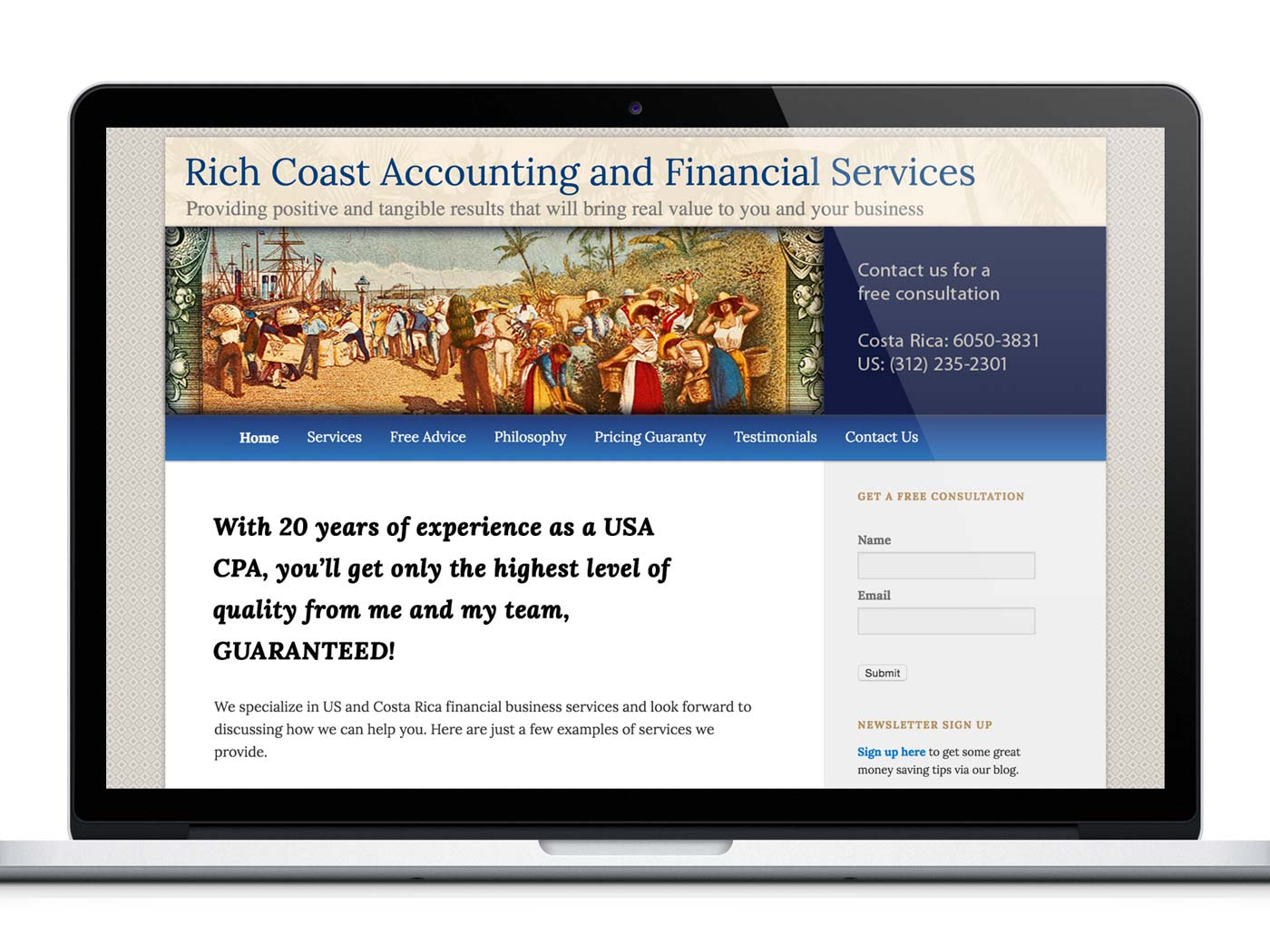 Website Design: Rich Coast Accounting & Financial Services