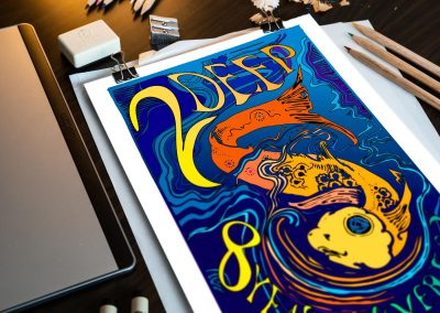 Event Marketing: Custom Illustration for 2 Deep Anniversary