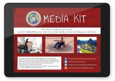 Media Kit Design for Travel Blogger