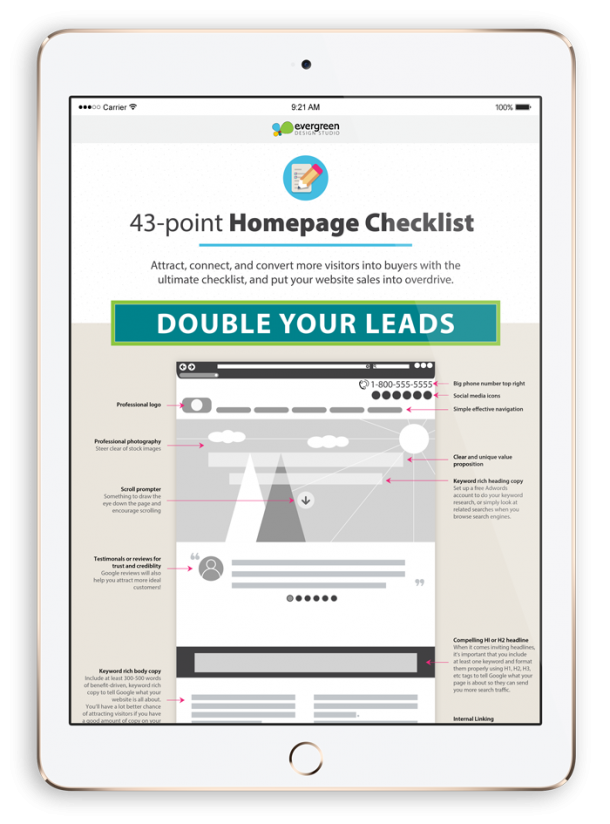 website checklist to generate more leads