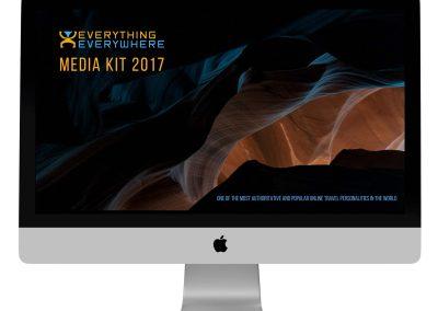 Media Kit Design for Travel Blogger and Photographer