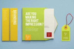 branding mockup in bright colors