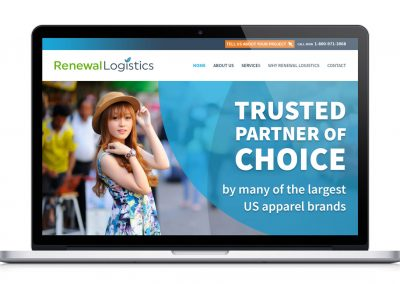 Website for Logistics Management Company