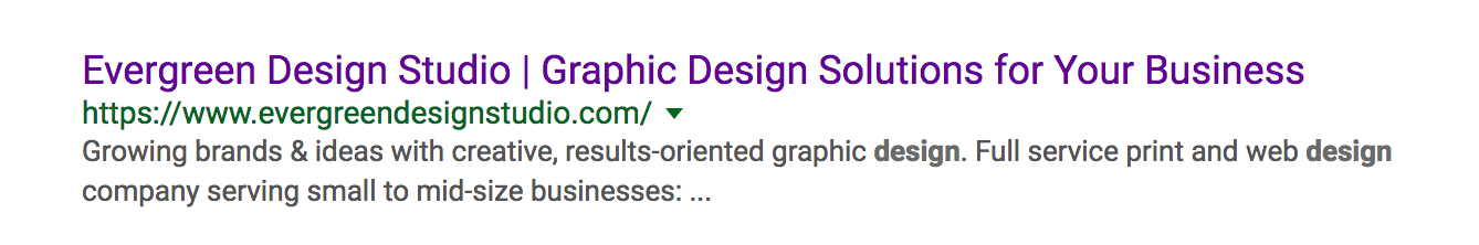 google search results for evergreen design studio
