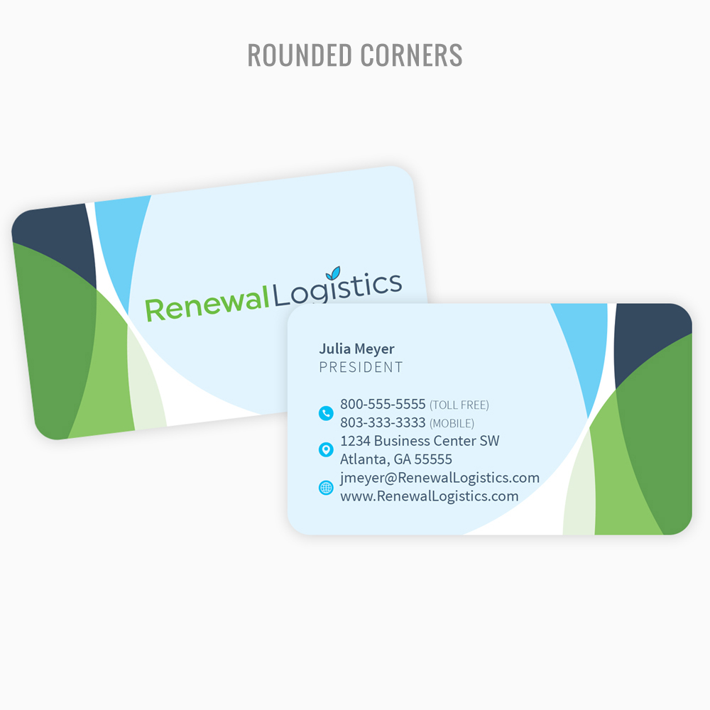 Great deal on business card printing with rounded corners