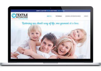 Textile Restorations Website Makeover