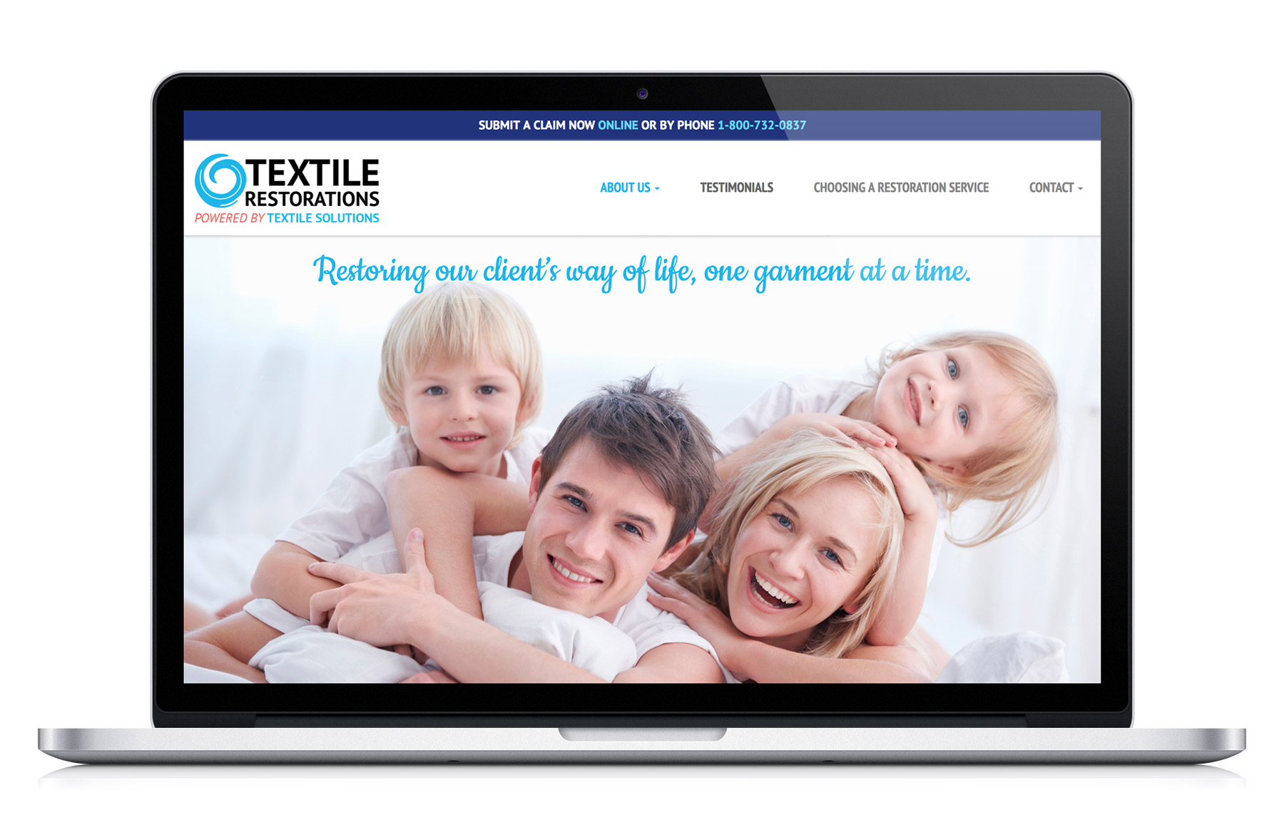 Textile Restorations Website Makeover